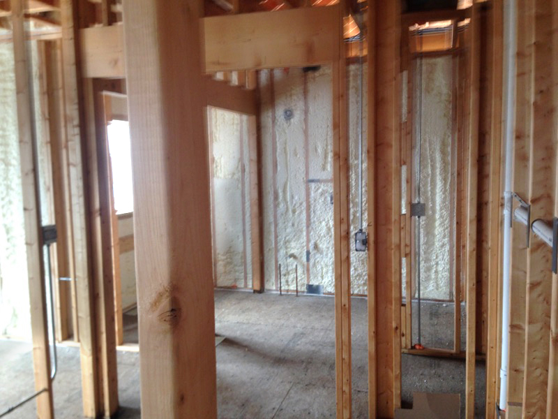 Insulating new house indiana spray foam for New home insulation