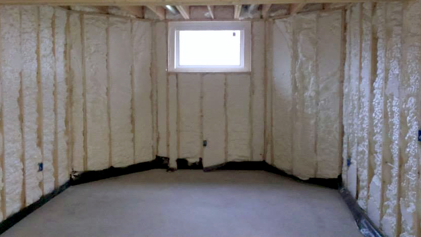 Spray foam insulation for your basement